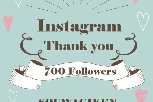 Thank you 700 Followers…